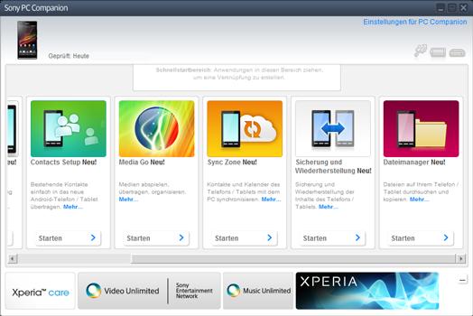 Sony Xperia X Compact - Software - Eine Sicherungskopie des Geräts erstellen - Schritt 3
