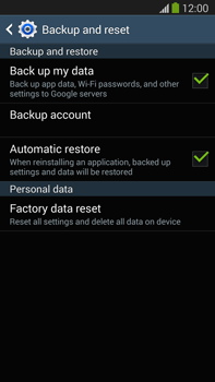 Samsung Galaxy Note III LTE - Mobile phone - Resetting to factory settings - Step 6