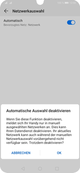 Huawei P30 Pro - Netzwerk - Manuelle Netzwerkwahl - Schritt 7