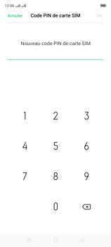 Oppo A9 2020 - Sécuriser votre mobile - Personnaliser le code PIN de votre carte SIM - Étape 10