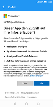 Huawei Honor 9 Lite - E-Mail - Konto einrichten (outlook) - 8 / 11