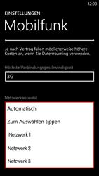 HTC Windows Phone 8X - Netzwerk - Manuelle Netzwerkwahl - Schritt 9