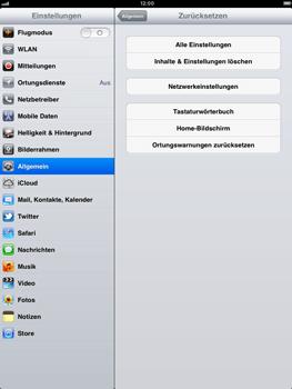 Apple iPad 2 - Fehlerbehebung - Handy zurücksetzen - 7 / 9