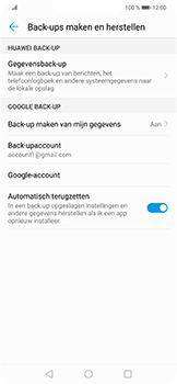 Huawei P Smart Plus - toestel resetten - back-up maken met jouw account - stap 10