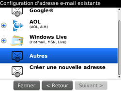 BlackBerry 9300 Curve 3G - E-mail - Configuration manuelle - Étape 8
