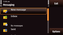 Nokia N97 Mini - E-mail - Sending emails - Step 4