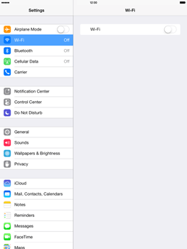 Apple iPad mini retina - WiFi - WiFi configuration - Step 4