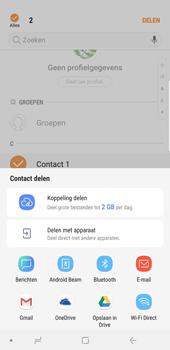 Samsung Galaxy Note9 - Contactgegevens overzetten - delen via Bluetooth - Stap 9