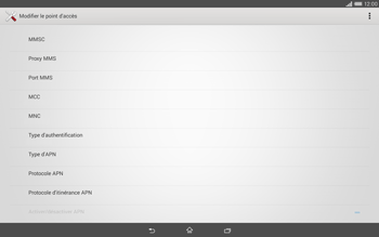 Sony Xperia Tablet Z2 LTE - MMS - Configuration manuelle - Étape 11