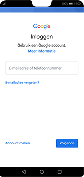Huawei P20 - Android Pie - apps - account instellen - stap 4