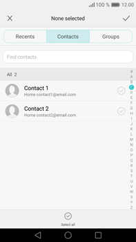 Huawei Mate 8 - Email - Sending an email message - Step 5