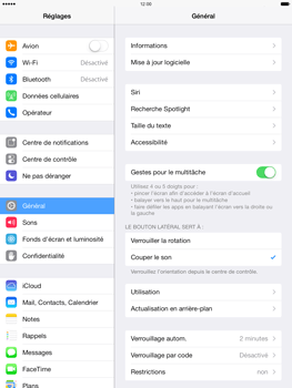Apple iPad mini 2 - Applications - Configuration du service iCloud d