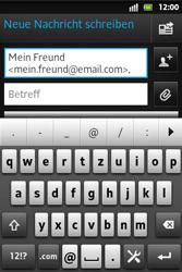 Sony Xperia Go - E-Mail - E-Mail versenden - Schritt 7