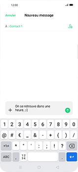 Oppo Find X2 Neo - Contact, Appels, SMS/MMS - Envoyer un SMS - Étape 9