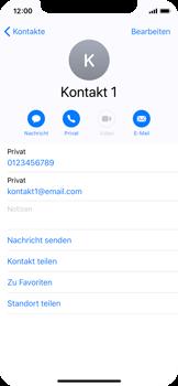 Apple iPhone X - Kontakte - Neuen Kontakt hinzufügen - 13 / 13