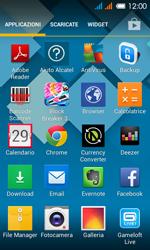 Alcatel One Touch Pop C3 - Operazioni iniziali - installazione di widget e applicazioni nella schermata iniziale - Fase 3