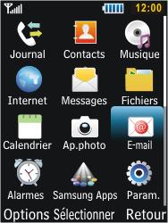 Samsung S5610 Primo - E-mail - envoyer un e-mail - Étape 2