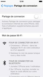 Apple iPhone 5s - Internet et connexion - Partager votre connexion en Wi-Fi - Étape 4