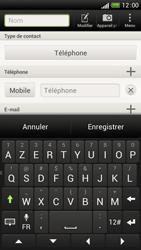HTC One S - Contact, Appels, SMS/MMS - Ajouter un contact - Étape 7