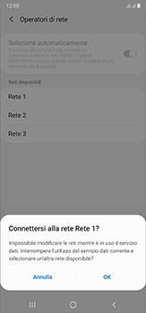 Samsung Galaxy Note 20 Ultra 5G - Rete - Selezione manuale della rete - Fase 12