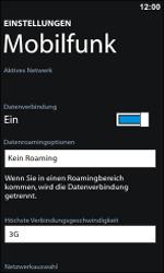 Nokia Lumia 800 - Netzwerk - Netzwerkeinstellungen ändern - Schritt 5