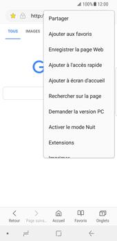 Samsung Galaxy S8 - Android Oreo - Internet et roaming de données - Navigation sur Internet - Étape 19