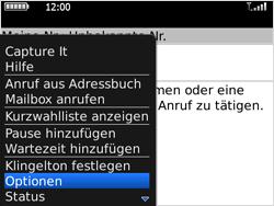 BlackBerry Bold - Anrufe - Rufumleitungen setzen und löschen - 0 / 0