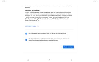 Samsung Galaxy Tab S7 - Apps - Einrichten des App Stores - Schritt 17