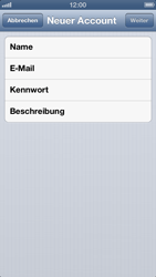 Apple iPhone 5 - E-Mail - Konto einrichten - 1 / 1