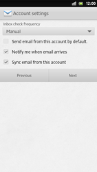 Sony Xperia S - E-mail - Manual configuration - Step 14