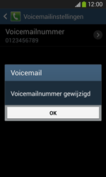 Samsung S7275 Galaxy Ace 3 - Voicemail - handmatig instellen - Stap 10