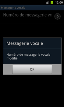 Samsung N7000 Galaxy Note - Messagerie vocale - Configuration manuelle - Étape 8