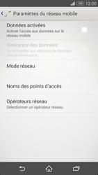 Sony Xperia Z3 - Internet et roaming de données - Comment vérifier que la connexion des données est activée - Étape 6