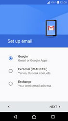 Sony Xperia X Compact - E-mail - 032a. Email wizard - Gmail - Step 9