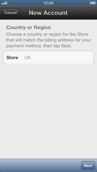Apple iPhone 5 - Applications - Create an account - Step 5