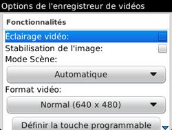 BlackBerry 9320 - Photos, vidéos, musique - Créer une vidéo - Étape 8