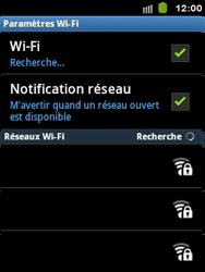 Samsung Galaxy Y - WiFi - Configuration du WiFi - Étape 7