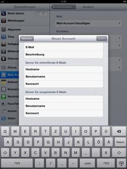 Apple iPad 4 - E-Mail - Konto einrichten - Schritt 12