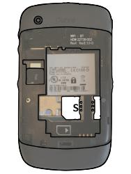 BlackBerry Curve - SIM-Karte - Einlegen - 0 / 0