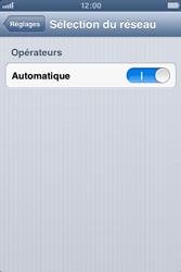 Apple iPhone 3GS - Réseau - Sélection manuelle du réseau - Étape 4