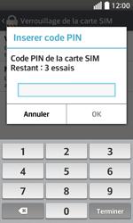 LG F70 - Sécuriser votre mobile - Personnaliser le code PIN de votre carte SIM - Étape 8