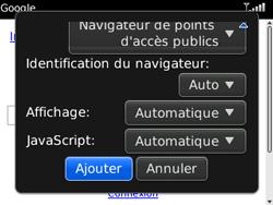 BlackBerry 8520 Curve - Internet - Navigation sur Internet - Étape 7
