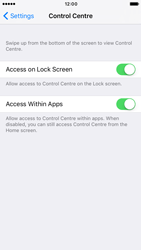 Apple iPhone 6s iOS 10 - iOS features - Control Centre - Step 5