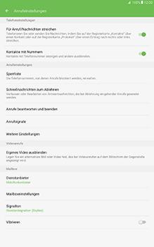 Samsung Galaxy Tab A 10-1 - Anrufe - Rufumleitungen setzen und löschen - Schritt 6