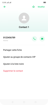Oppo Reno 2Z - Contact, Appels, SMS/MMS - Ajouter un contact - Étape 8