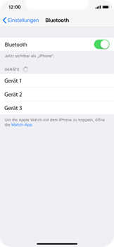 Apple iPhone X - Bluetooth - Geräte koppeln - 0 / 0