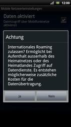 Sony Ericsson Xperia Arc S - Ausland - Im Ausland surfen – Datenroaming - 2 / 2