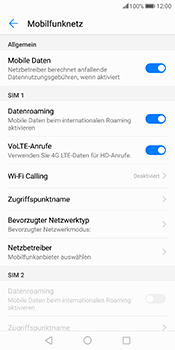 Huawei Mate 10 Pro - Ausland - Im Ausland surfen – Datenroaming - 9 / 11