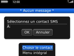 BlackBerry curve 3G - Contact, Appels, SMS/MMS - Envoyer un SMS - Étape 7