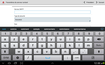 Samsung N8000 Galaxy Note 10-1 - E-mail - Configuration manuelle - Étape 11
